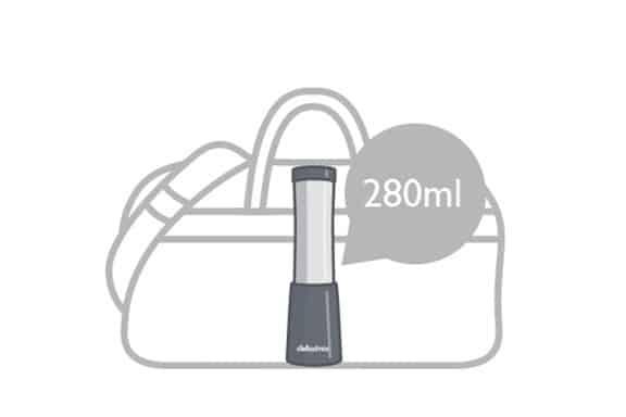 Compact size of the detoximxi mini blender