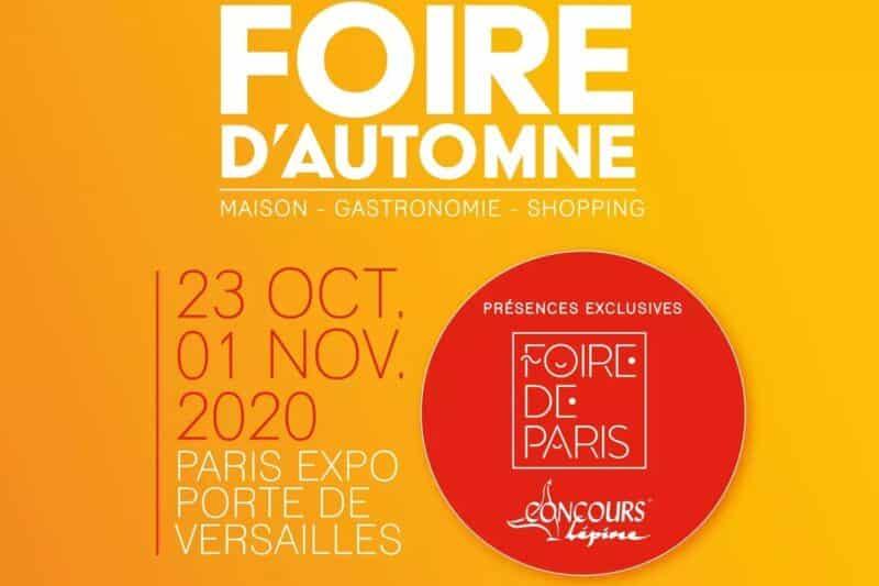 affiche salon foire d'automne paris