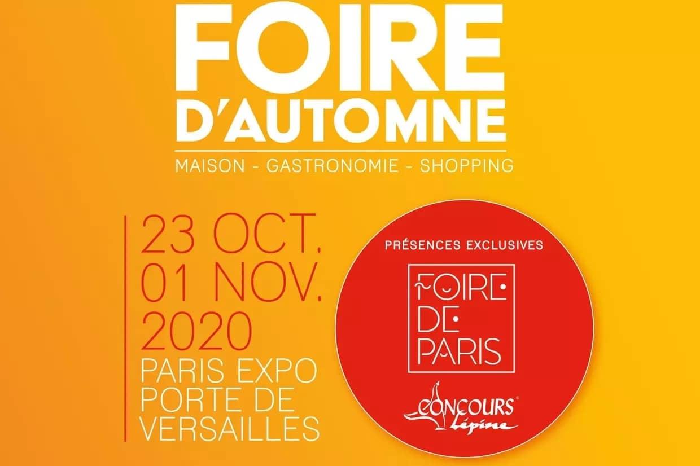 Cartel de la feria de otoño de París