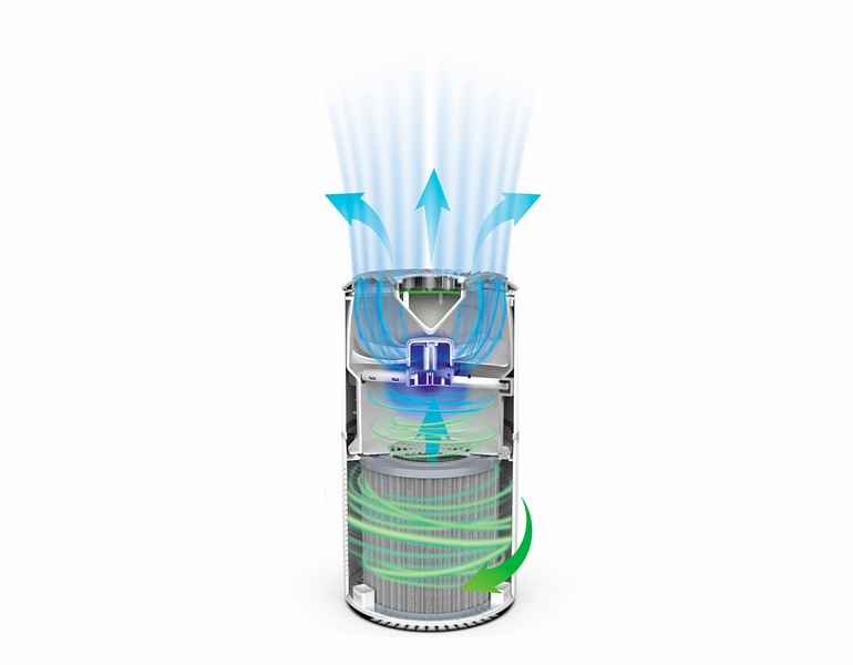 air purifier detoximix cylindrical suction vertical discharge