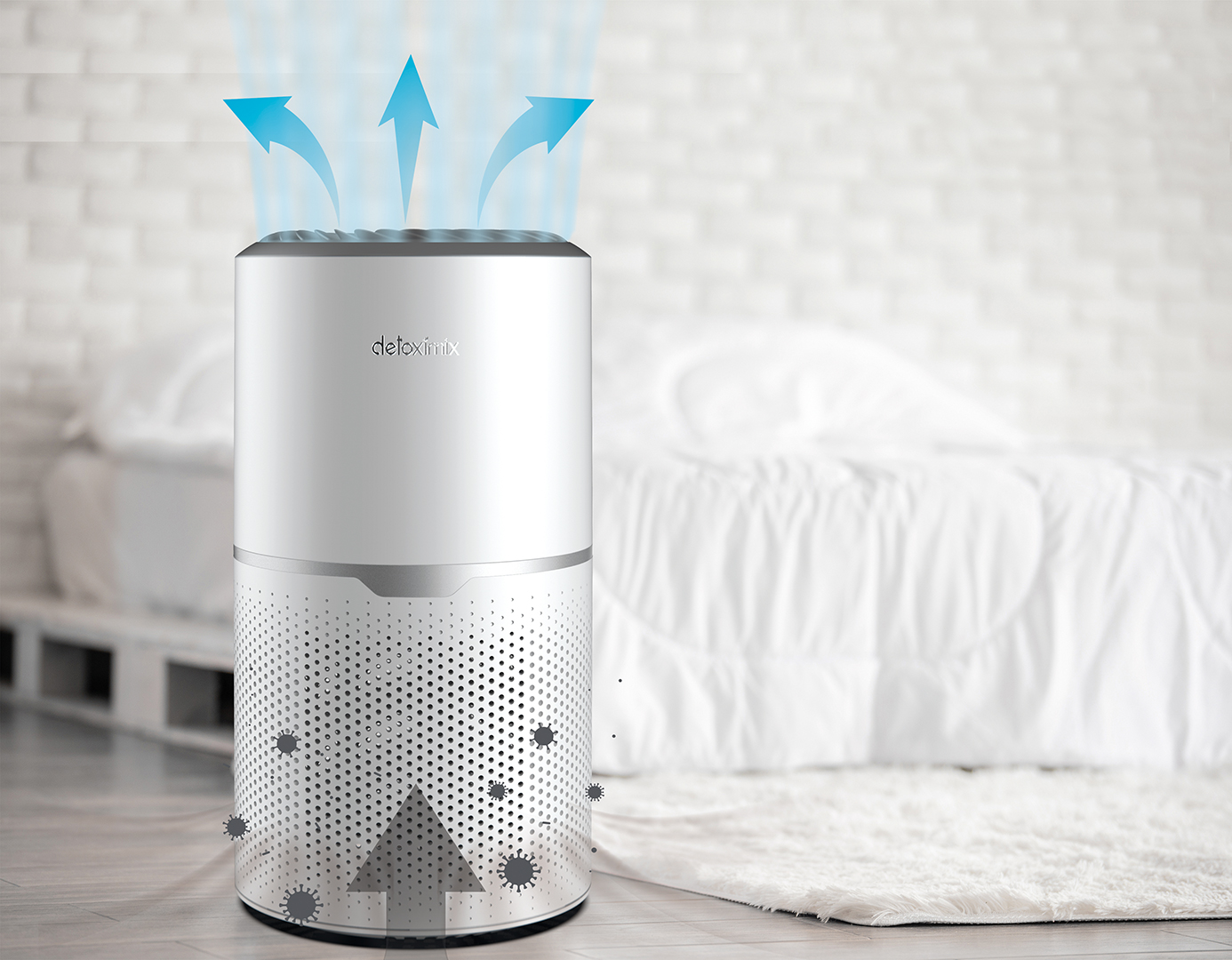 360 ° suction and diffusion air purifier detoximix